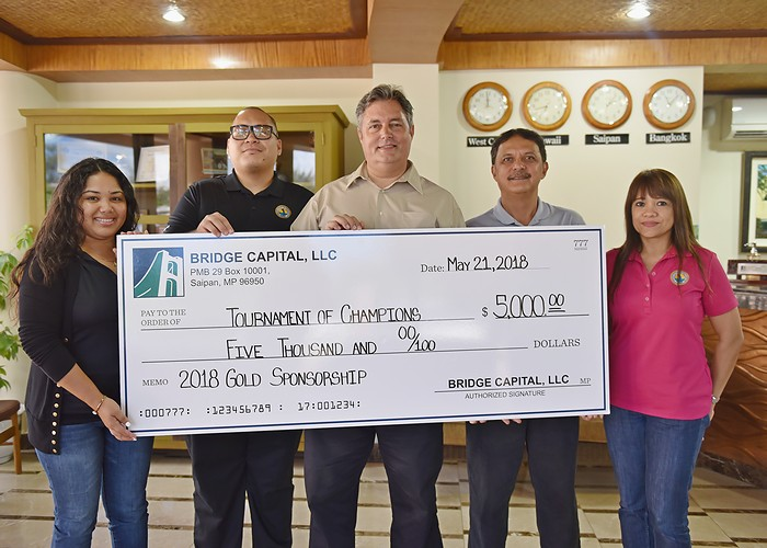 Bridge Capital donates $5K to Governor's Tournament of Champions